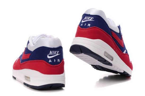 Nike Air Max 1 Mens Trainers Midnight Navy Action Red Neptune Blue